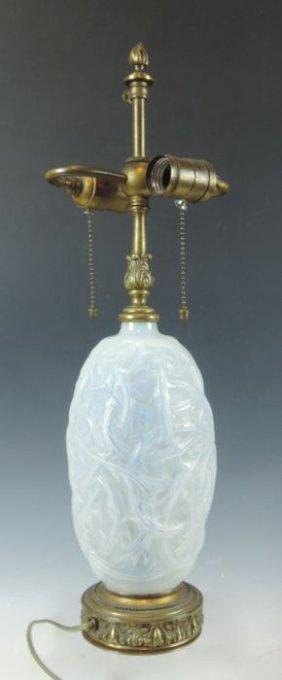 R Lalique Opalescent Ronces Lamp