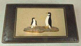 Pietra Dura Penguins Box