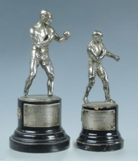 Pair English Boxing Trophies D.1937