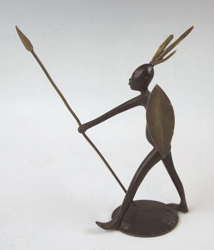 Hagenauer Bronze African Figure