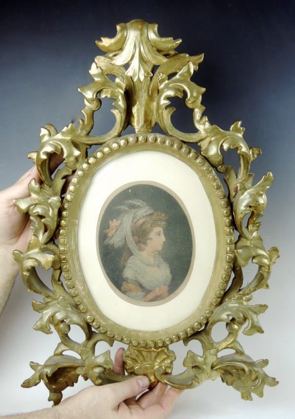 Antique Florentine Gilt Oval Frame