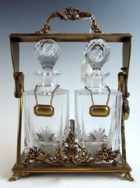 French 2 Crystal Bottle Tantalus