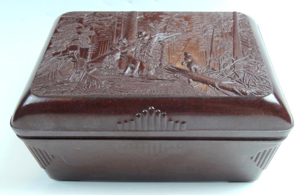 Russian Scenic Bakelite Box