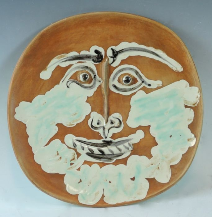 """Picasso Ceramic Plate """"Bearded Face"""""""