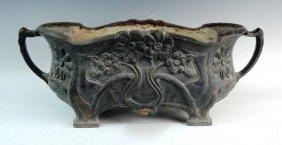 Antique Art Nouveau Cast Iron Planter