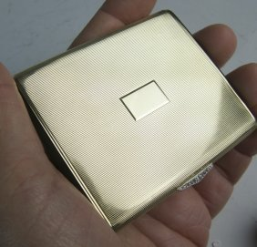 Cartier Gold Diamond And Onyx Ladies Cigarette Case