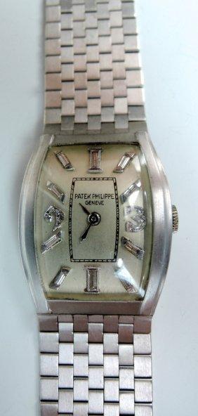 Art Deco Platinum & Gold Patek Philippe Wristwatch