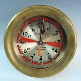 U S Maritime Ships Clock Chelsea Clock Co