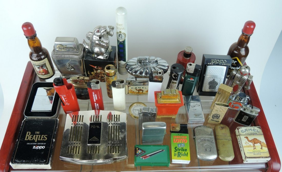 Large Group of Vintage Lighters