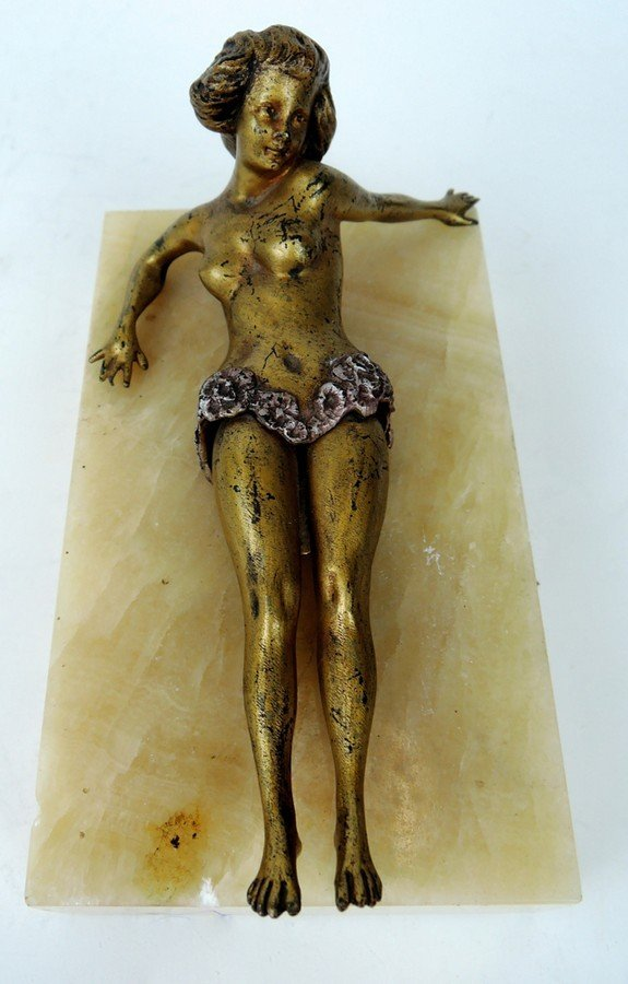 Erotic Bronze Cigar Cutter