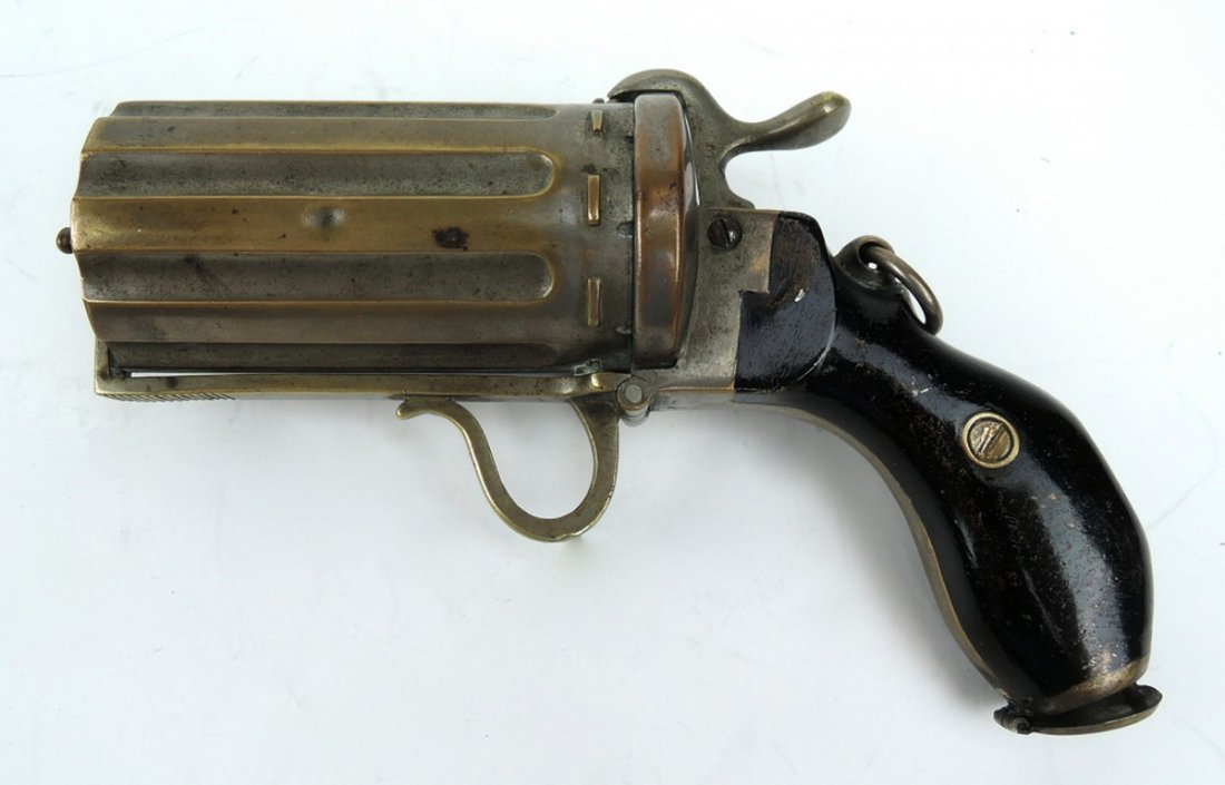 Unusual Pepperbox Gun Cigarette Holder - 2