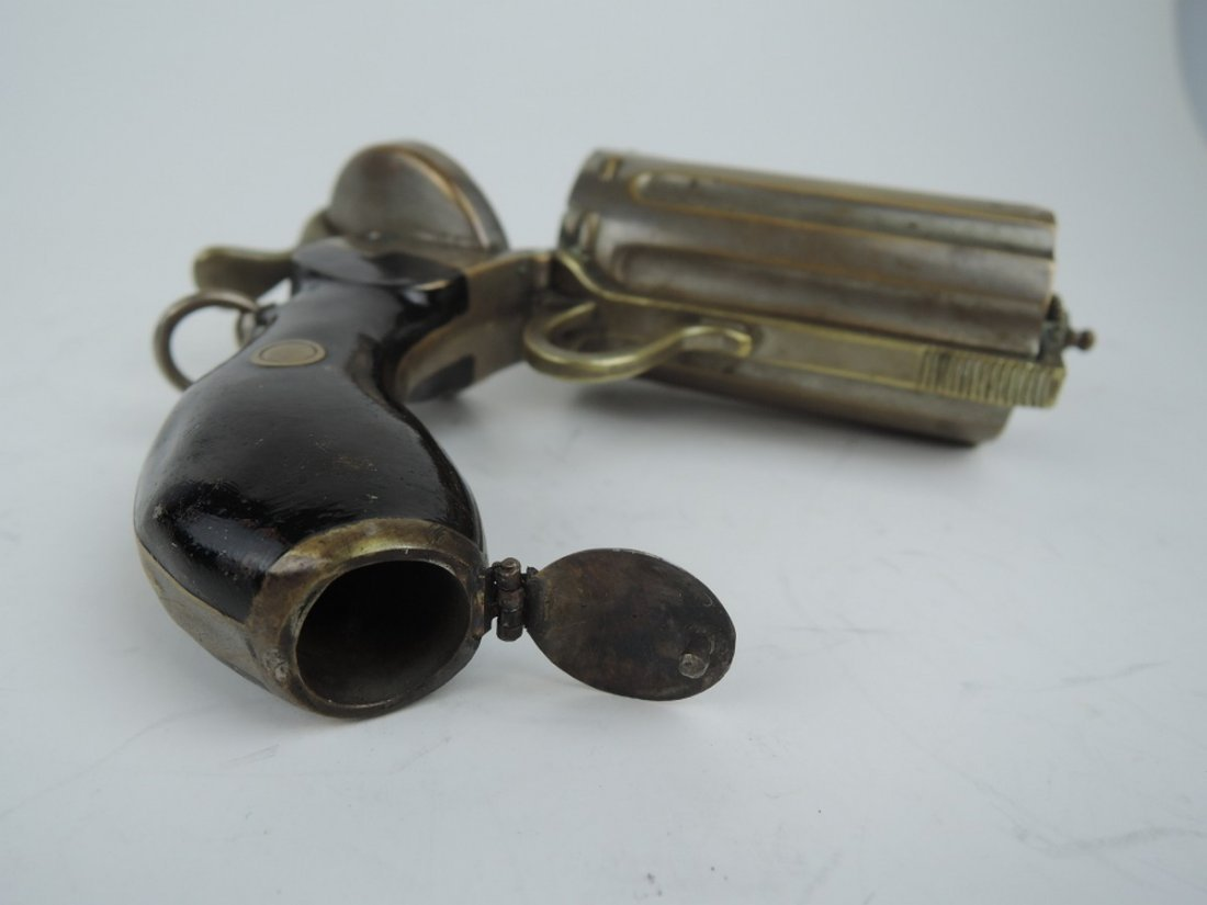 Unusual Pepperbox Gun Cigarette Holder - 4
