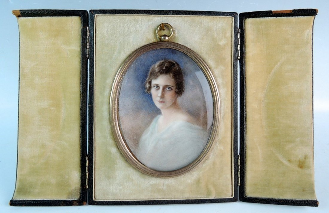 Artist Signed Miniature Portrait of a Lady