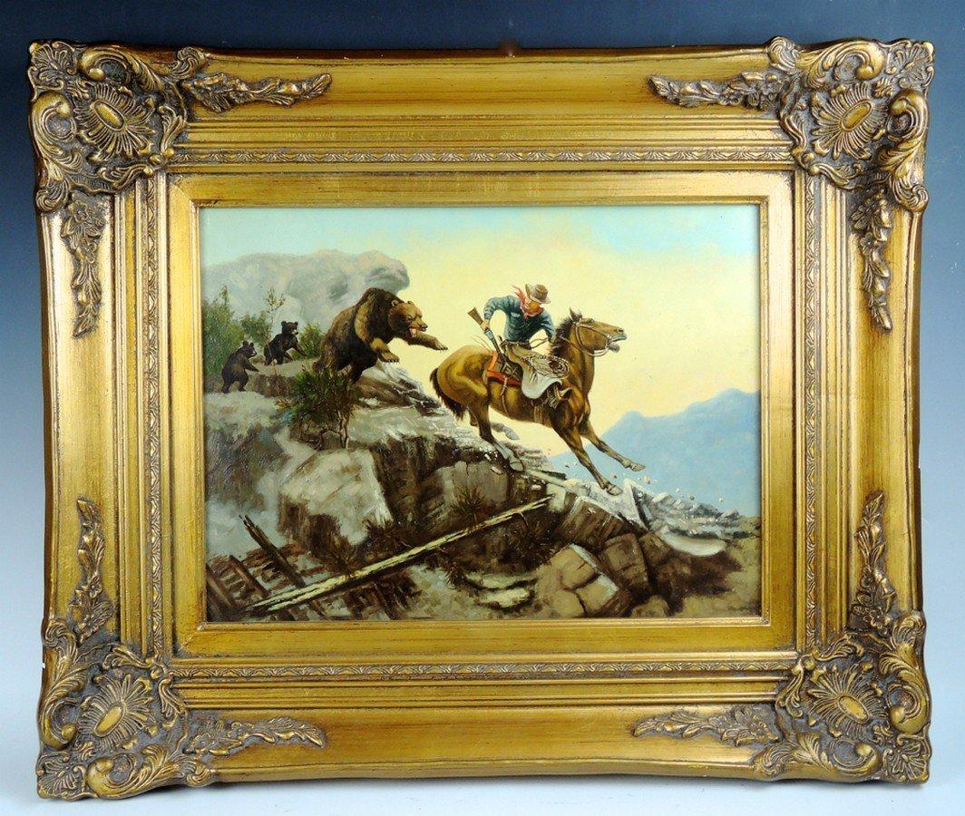 Western Cowboy Painting