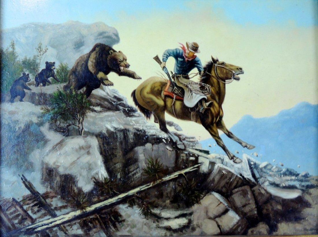 Western Cowboy Painting - 2
