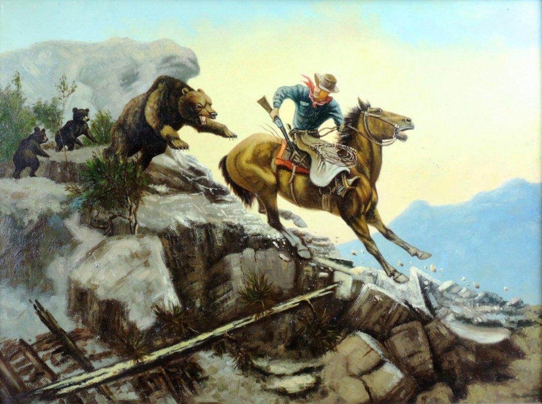 Western Cowboy Painting - 3