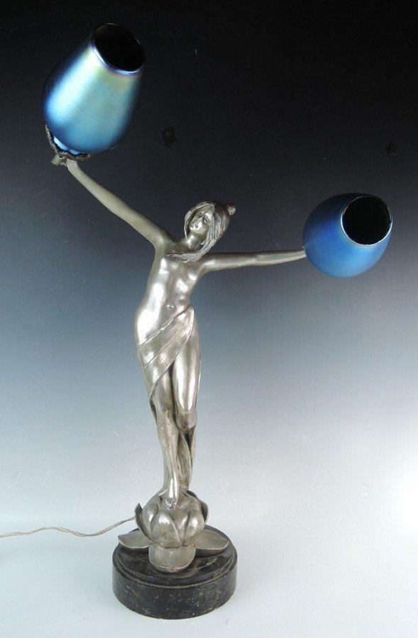 Art Nouveau Nude Figural Lamp
