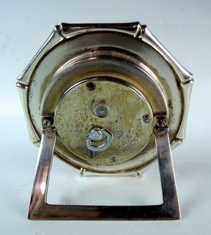 Tiffany & Co Sterling Silver Bamboo Desk Clock - 2