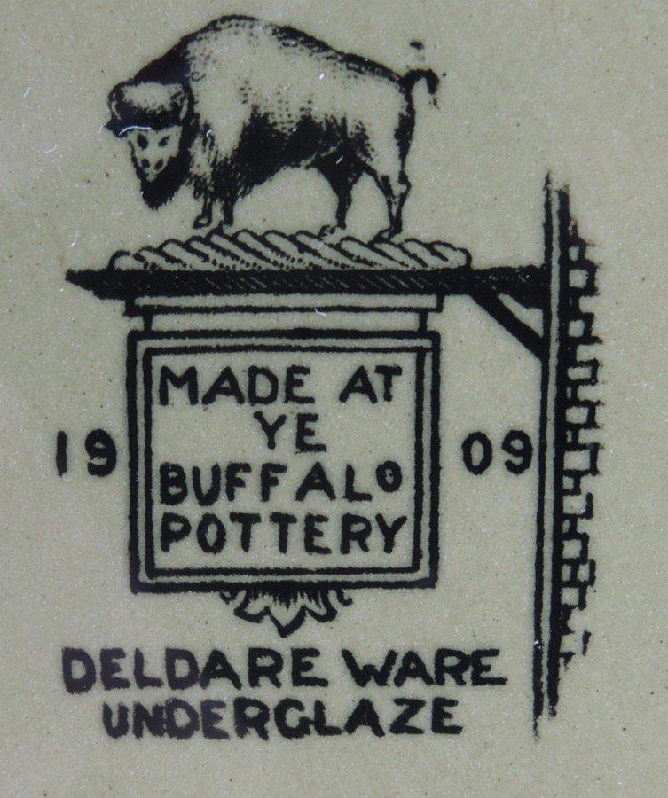 Rare Buffalo Pottery Deldare Ware Teaset - 4