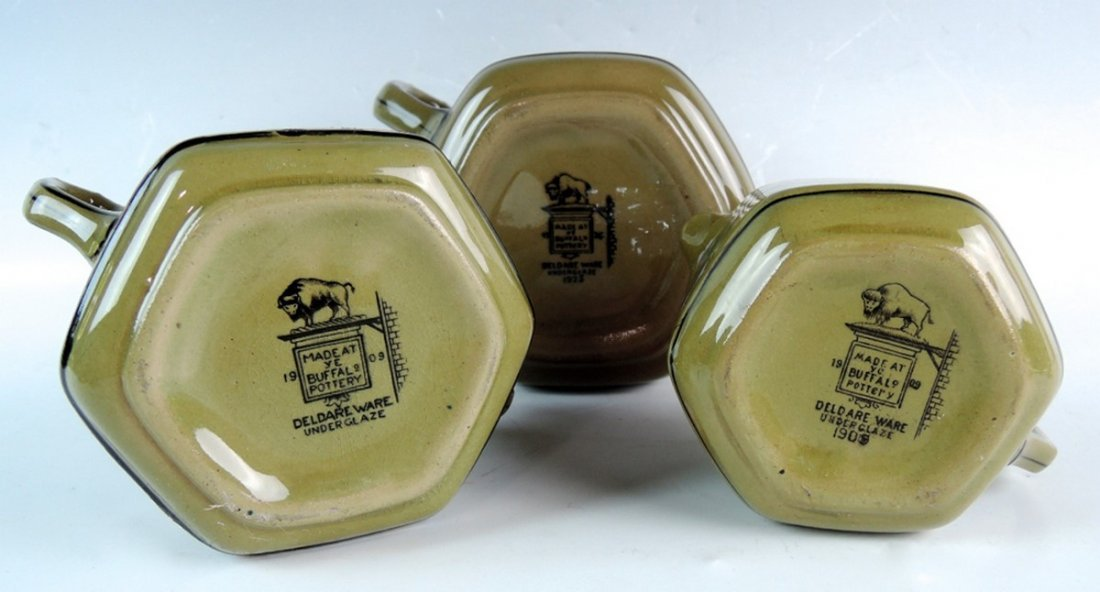 Rare Buffalo Pottery Deldare Ware Teaset - 6