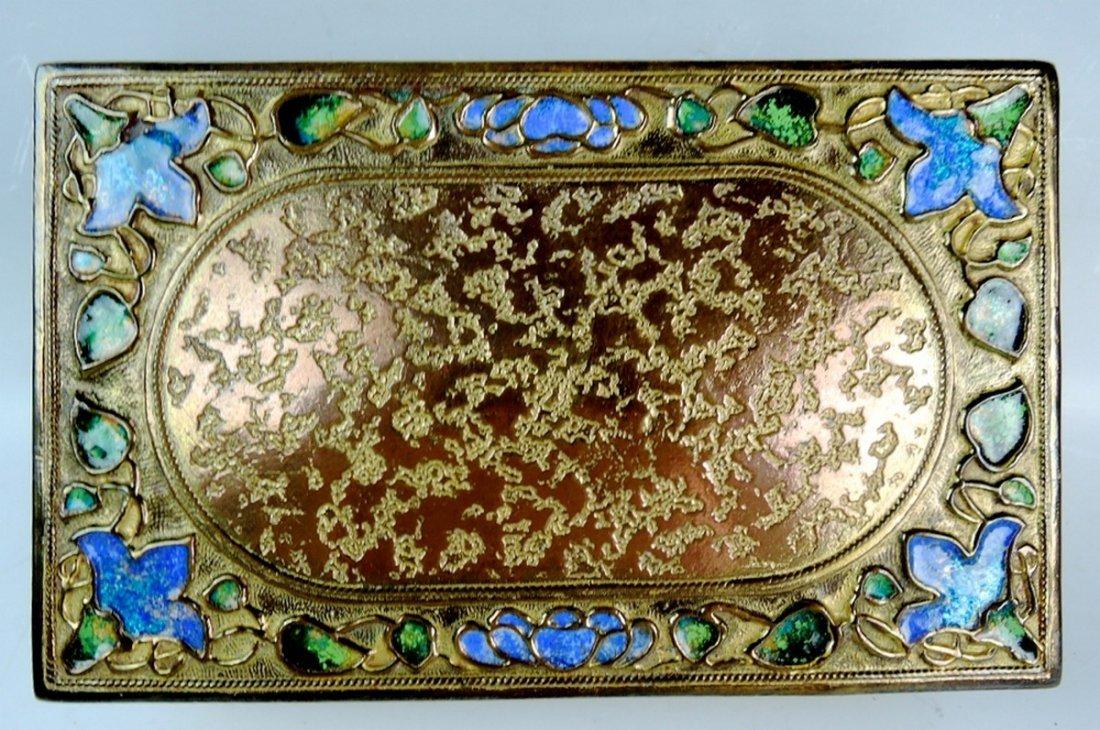 Louis C Tiffany Furnaces Enamel Box - 2