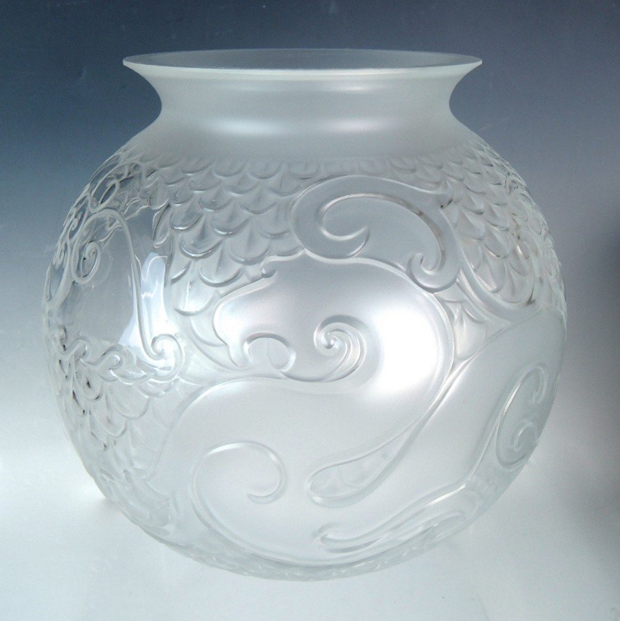 Lalique Xian Vase w Original Box - 2