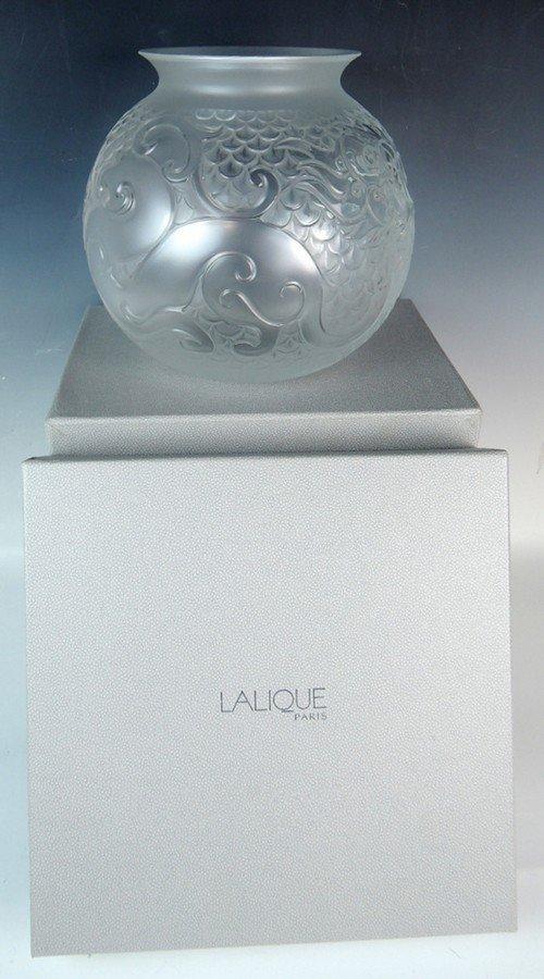 Lalique Xian Vase w Original Box - 6