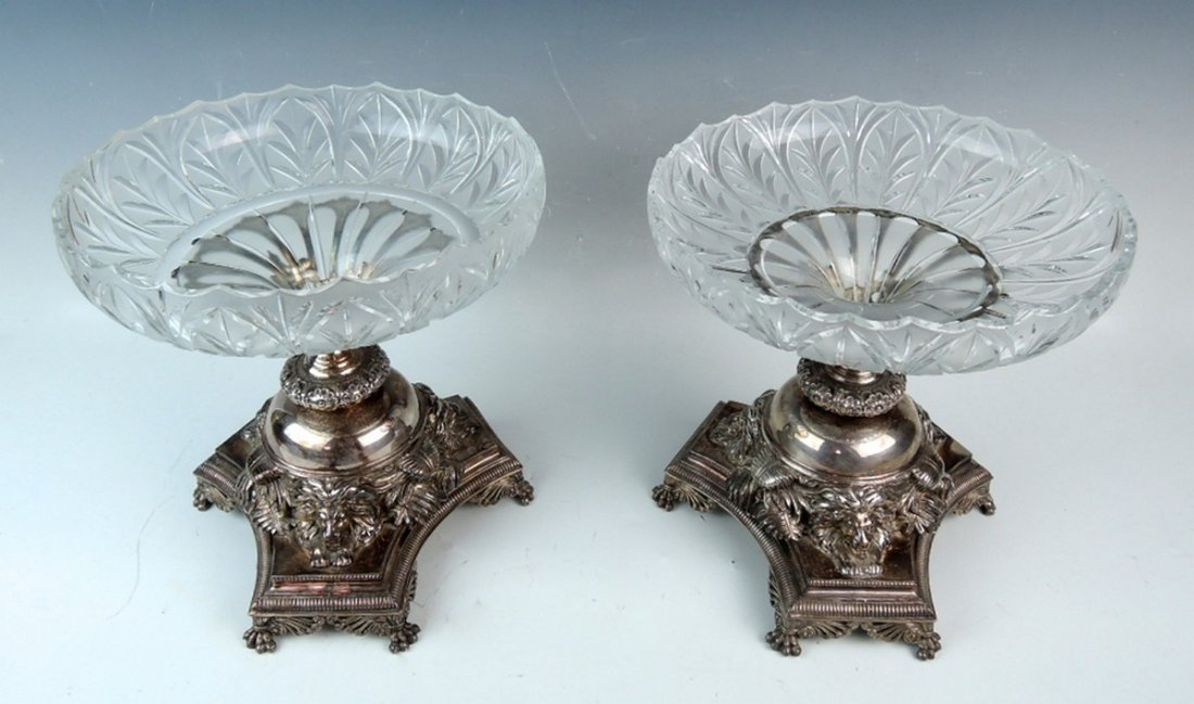 Pair English Silverplate Compotes by Pryor Tyzack - 2