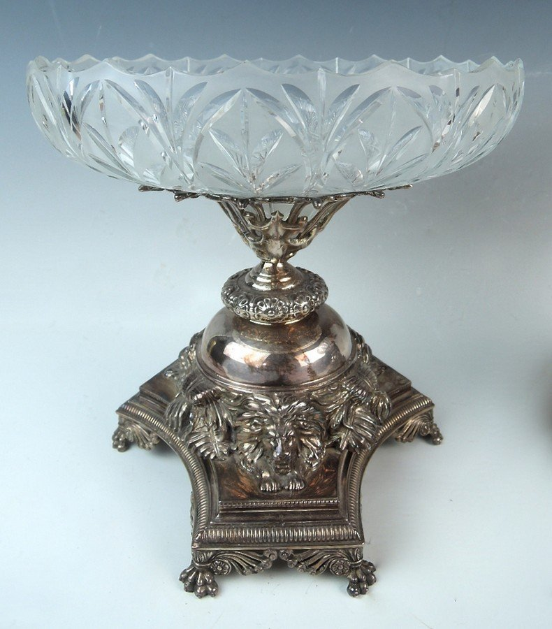 Pair English Silverplate Compotes by Pryor Tyzack - 3