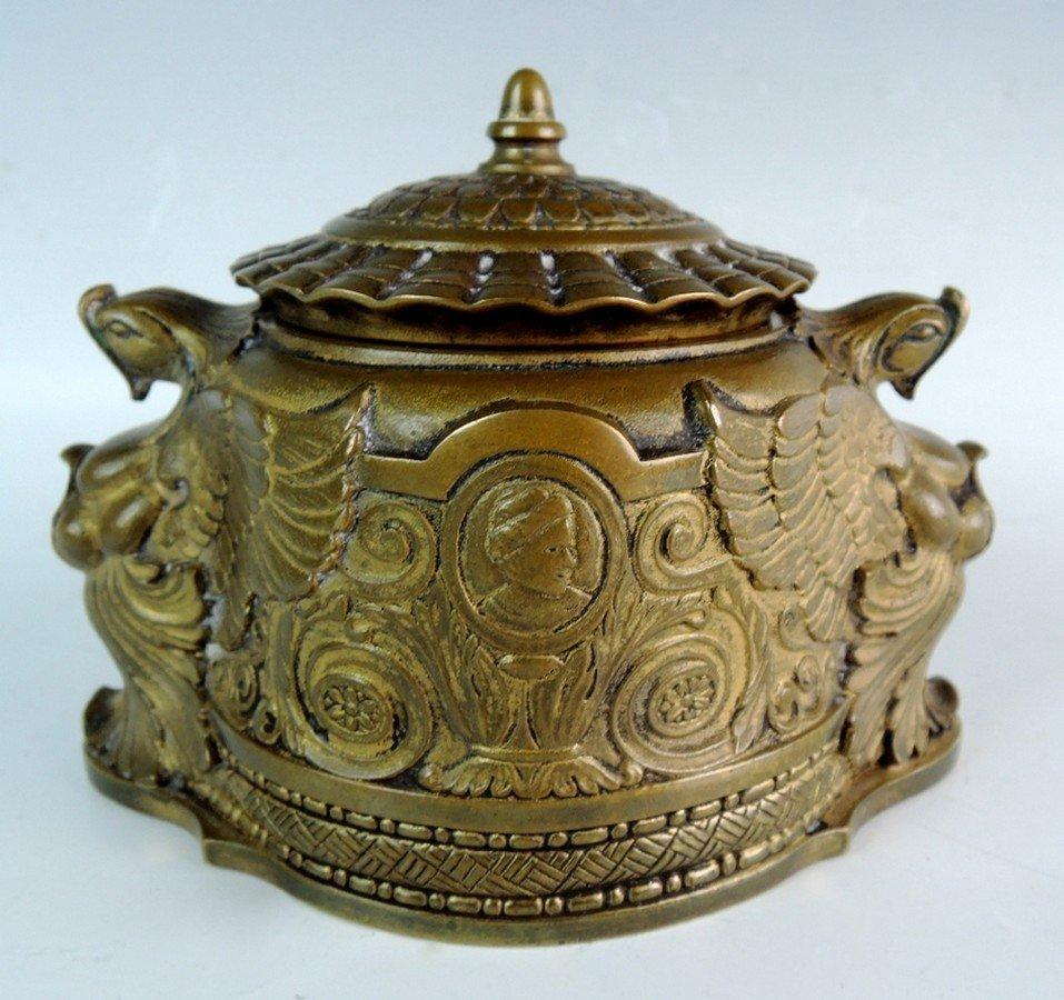 "Rare Tiffany Studios Bronze ""Spanish"" Inkwell"