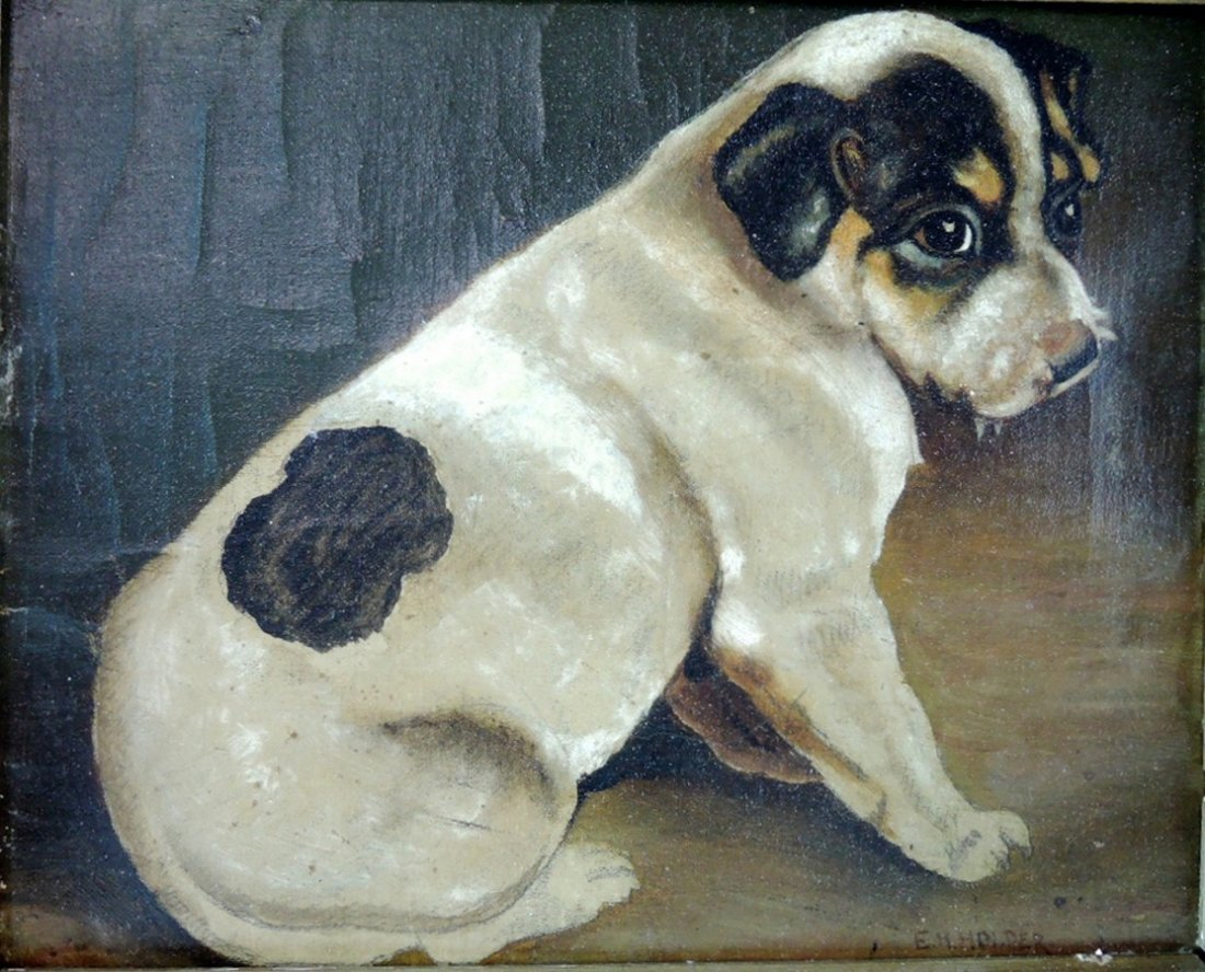 E.H. Holder Painting of Jack Russell Dog