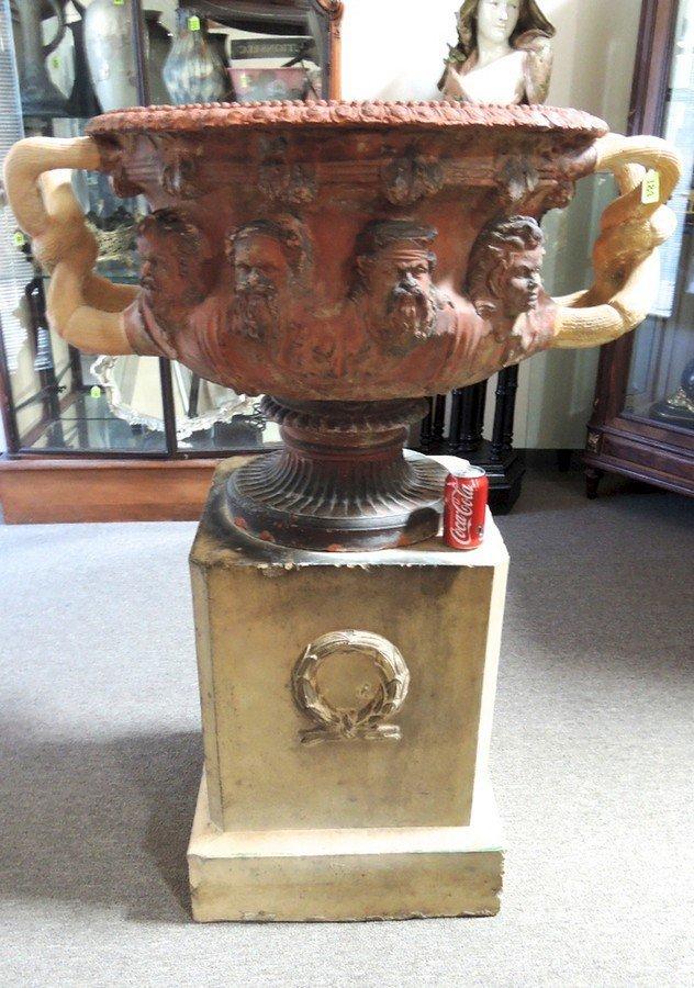 Monumental Terracotta Doulton Lambeth Warwick Vase