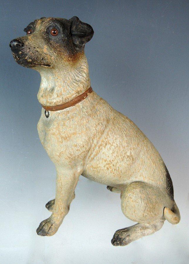Austrian Terracotta Jack Russell Dog Figurine