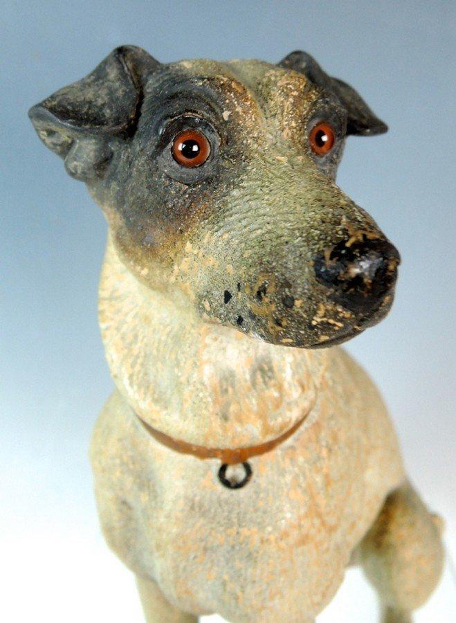 Austrian Terracotta Jack Russell Dog Figurine - 2