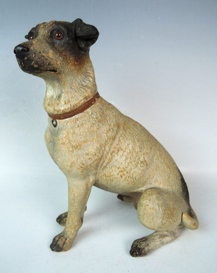Austrian Terracotta Jack Russell Dog Figurine - 3