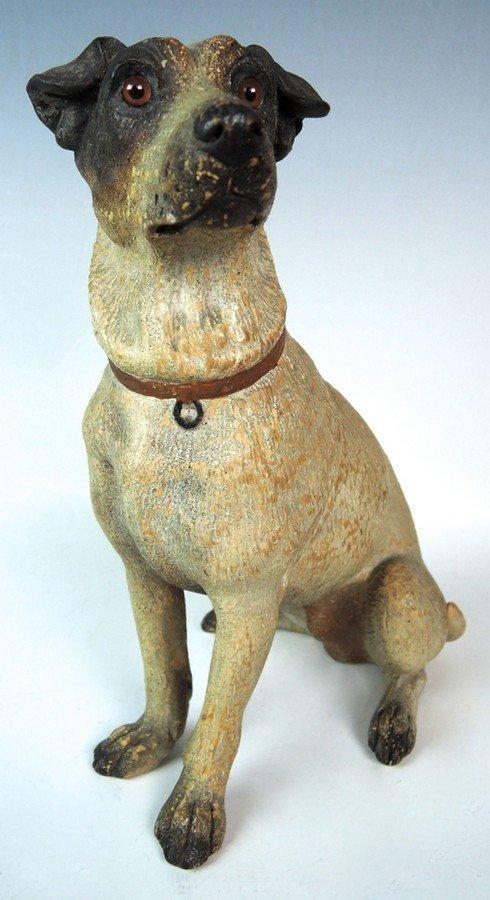 Austrian Terracotta Jack Russell Dog Figurine - 5