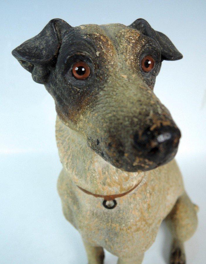 Austrian Terracotta Jack Russell Dog Figurine - 6