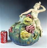 Monumental Amphora Figural Art Nouveau Vase