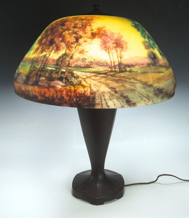 Moe Bridges Reverse Painted Table Lamp - 2