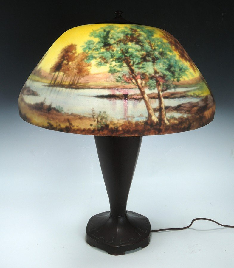 Moe Bridges Reverse Painted Table Lamp - 3