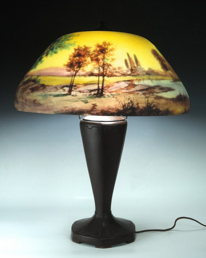 Moe Bridges Reverse Painted Table Lamp - 5