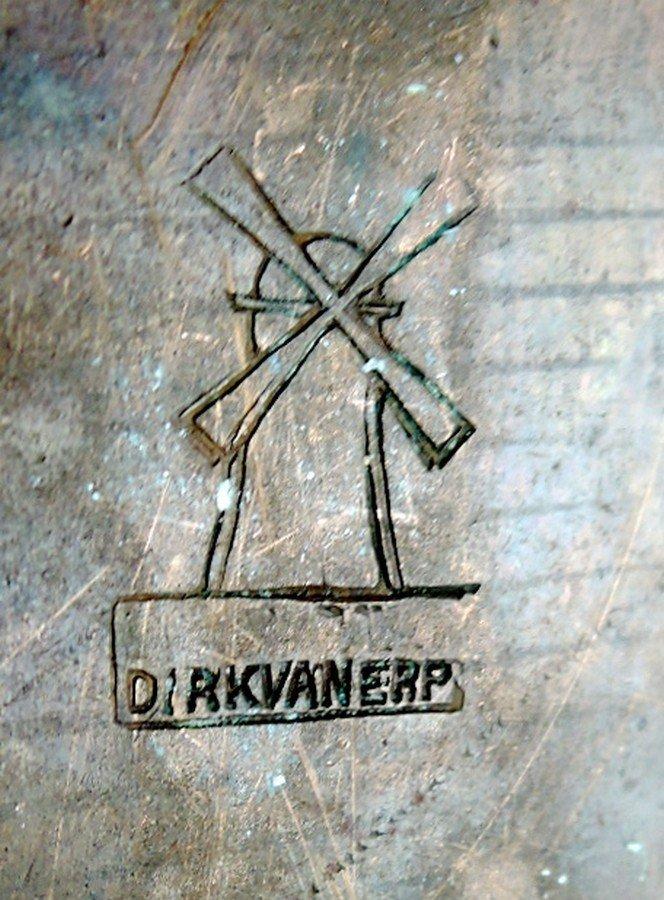Dirk Van Erp Copper Canoe Handled Basket - 3
