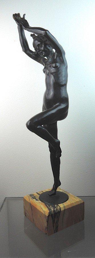 Louis Delapchier Bronze Nude Danseuse (Dancer)