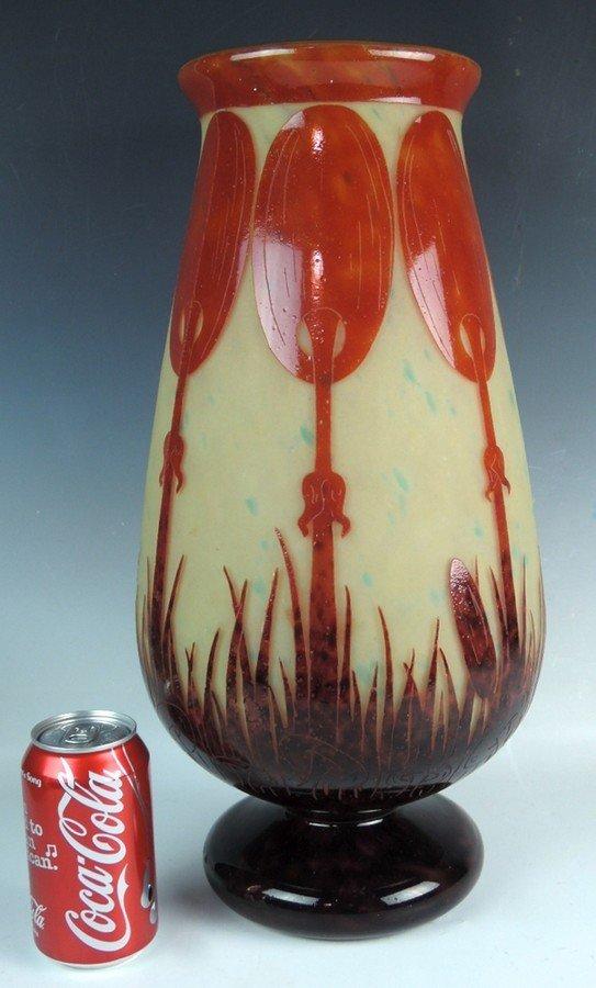Monumental Le Verre Francais Cameo Vase