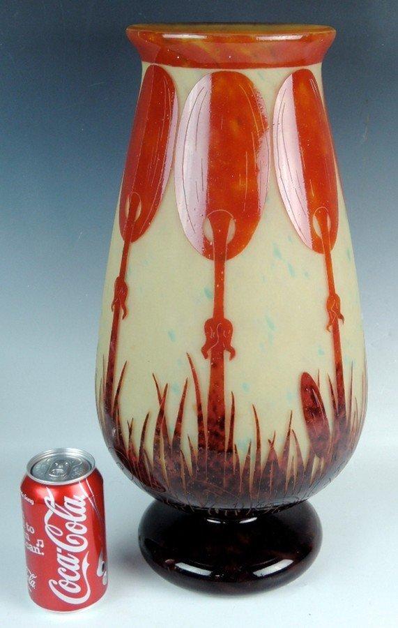 Monumental Le Verre Francais Cameo Vase - 2