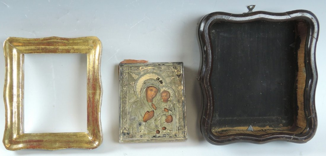 Antique Russian Icon Virgin and Child - 2