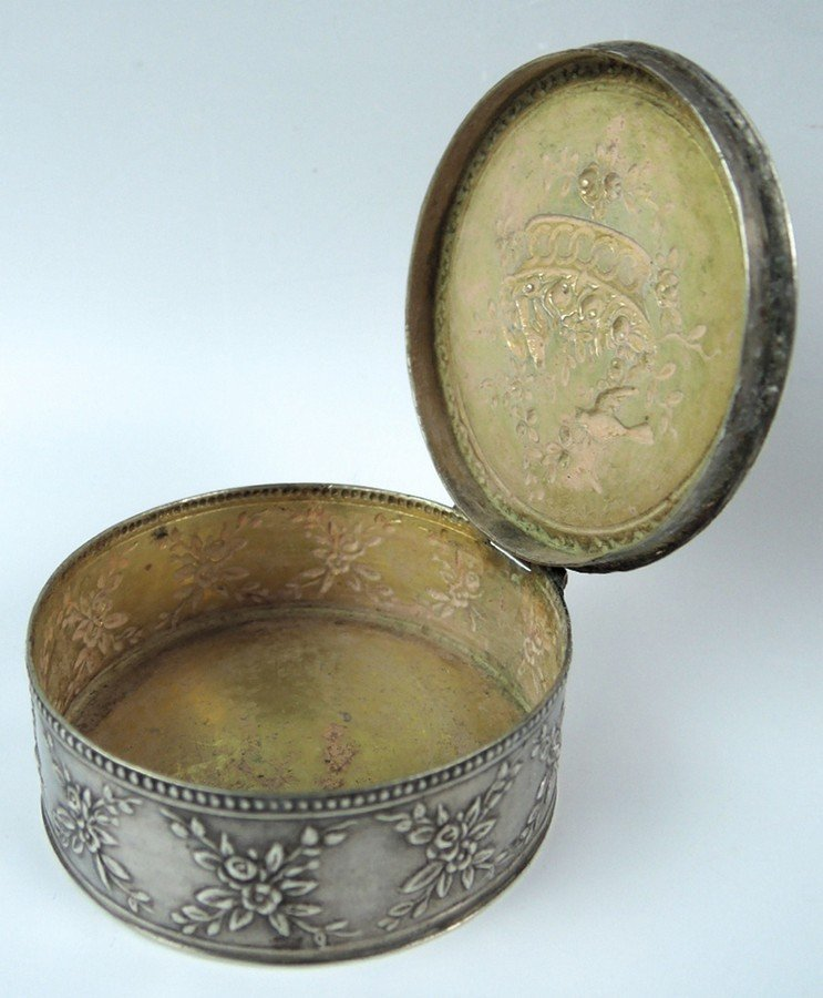 Vintage Sterling Box with Birds - 2