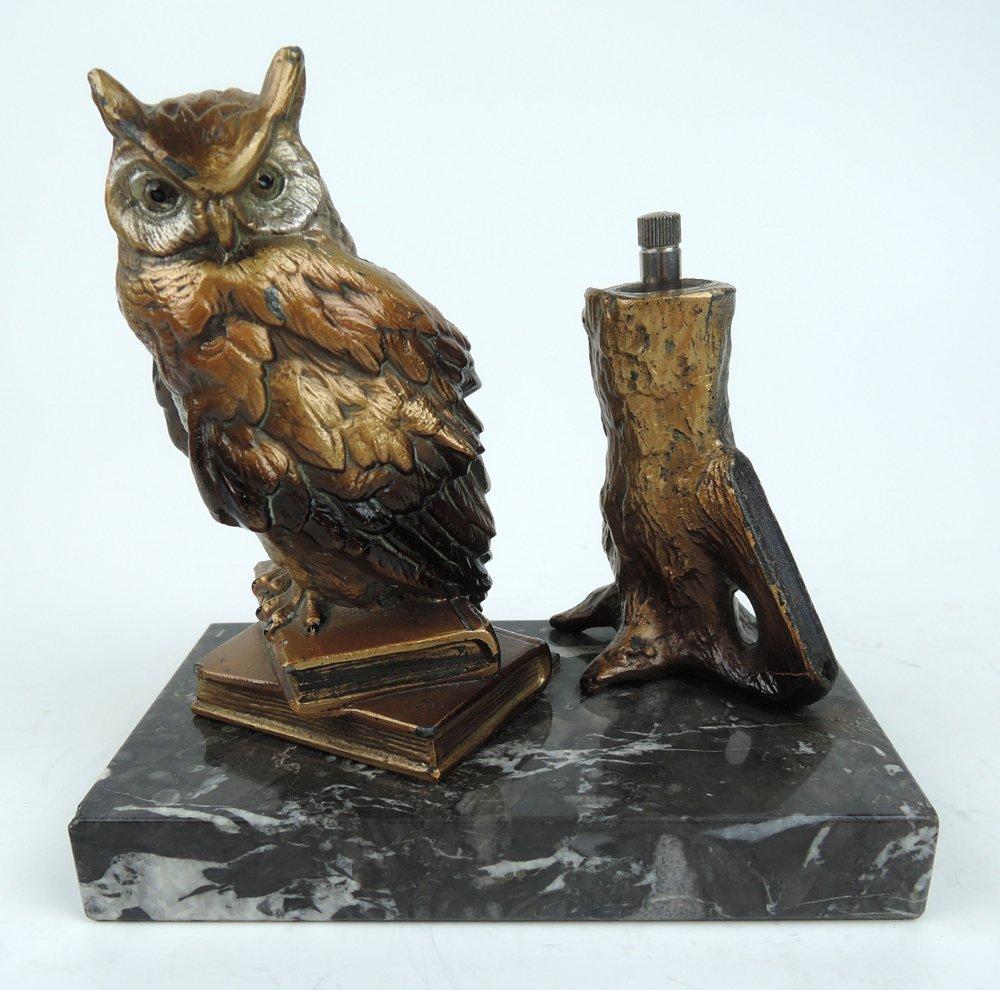 Owl Cigar Lighter sgd Nam Greb (Bergman) Geschutzt