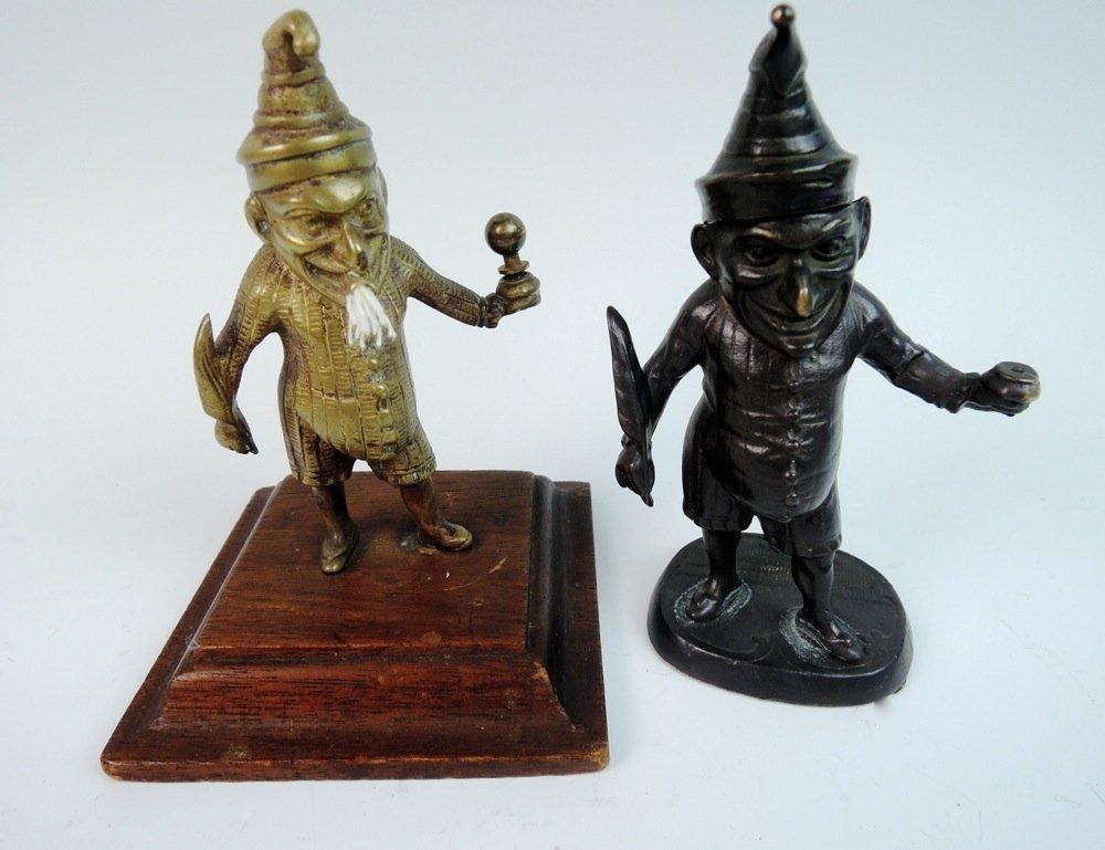 2 Bronze Punch Characters, Lighter & Matchsafe