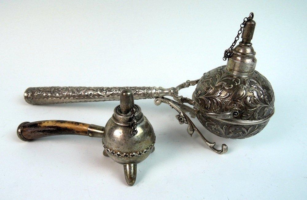 2 Sterling Silver Gimbal Cigar Lighters